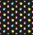 owls cute pattern vector image