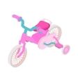 Pink trike icon cartoon style vector image