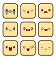 set of emoticons set of emoji isolated on white vector image