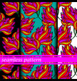 Set of seamless pattern with flowers vector image