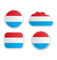 Luxembourg flag labels vector image
