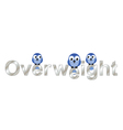 Overweight text vector image