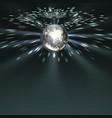 silver disco ball vector image