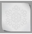 paper sticker with snowflacke vector image