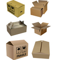 set of boxes vector image vector image