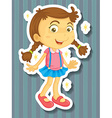 Little girl in new dress vector image vector image