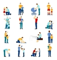 Fatherhood icons set vector image