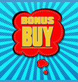 icons in the style of pop art for bonus sales vector image