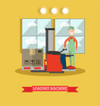 loading machine concept in vector image