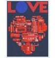 LOVE LONDON vector image