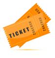 Movie tickets vector image