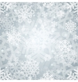 Shiny Silver Light Snowflakes Seamless Pattern for vector image