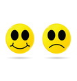 smiley yellow vector image