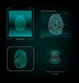 visual response finger print vector image