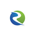 R River Logo vector image