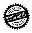 rapid relief rubber stamp vector image