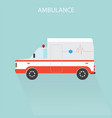 ambulance car emergency medical service vector image