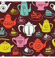 Coffee and tea seamless pattern vector image