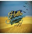 Hello Summer blurred background vector image