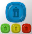 basket garbage vector image