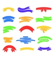 colorful ribons set isolaten on background vector image