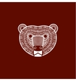 stylized Bear face vector image