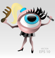 Blond eyeball makeup character vector