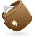 Icon of purse vector image vector image