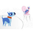 cat and dog characters best happy friends bull vector image
