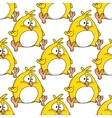 Cute little fat yellow Easter chicken vector image