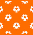 football soccer ball pattern seamless vector image