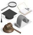 judge set in 3d vector image