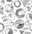 Seamless pattern of infographic elements vector image