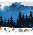 Winter night landscape vector image