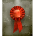 First place red ribbon old-style vector image