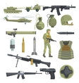 Professional Army Infantry Forces Weapons vector image