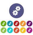 Gear set icons vector image
