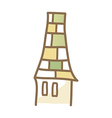icon chimney vector image vector image