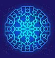 sacral geometry 3d design mandala arabesque vector image