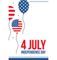 4th of july flat design card vector image