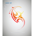 Liquid art fire flame vector image