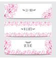 floral cards vector image vector image