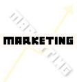 marketing font creative vector image