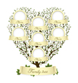 family tree in heart shape vector image