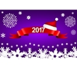 New Year 2017 on a purple background with vector image