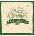 organic food Hand drawn three fruit trees vector image