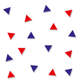 Red Blue Triangle Abstract White Background vector image