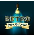 Retro image vector image