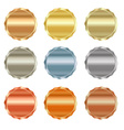 set of blank stamps of gold red gold white gold vector image