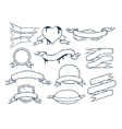 Set of ribbons templates for your text vector image